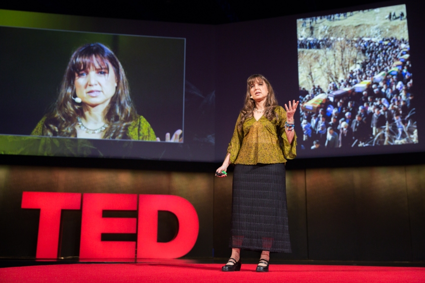 Zeynep Tufekci speaking at TEDGlobal 2014.