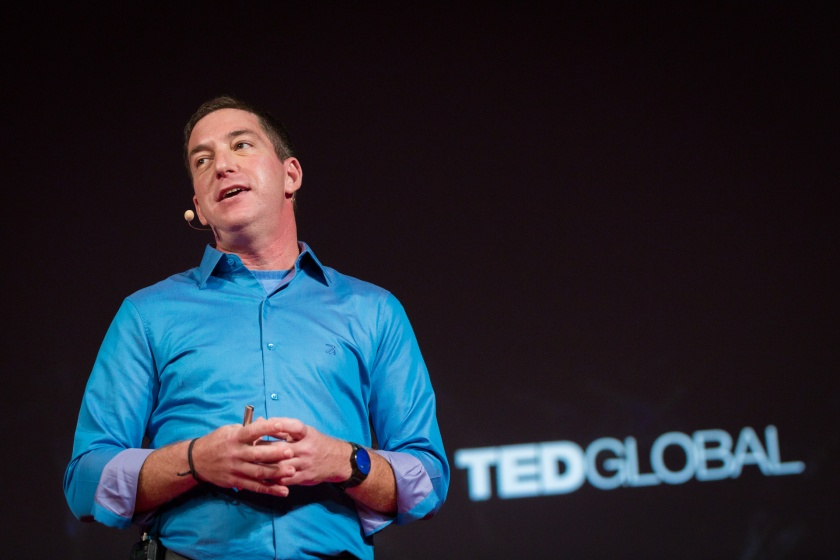Glenn Greenwald speaking at TEDGlobal 2014.